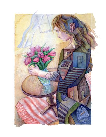 The Flowering House - Lena Ralston, Illustrator
